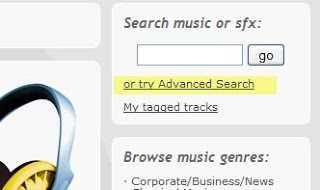 New 'Advanced Search' feature at Shockwave-Sound.com