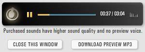 Higher sound quality previews on our older tracks