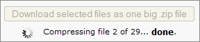 Download multiple files in one big download