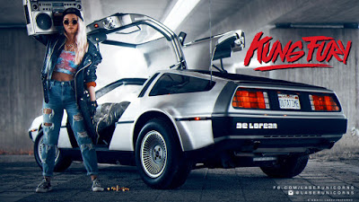 "Royalty-Free music tracks like the ""Kung Fury"" soundtrack"