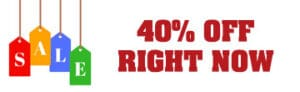40 Percent Off right now
