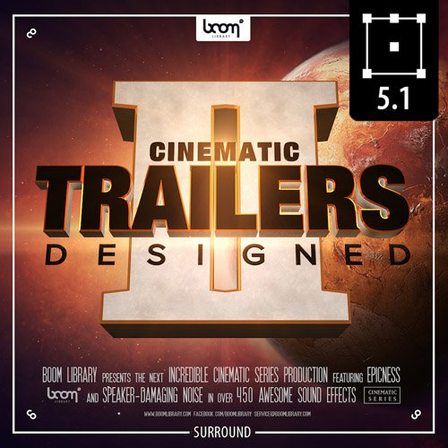 Royalty Free Music collection Boom Cinematic Trailers Designed 2 - Surround  and Stereo